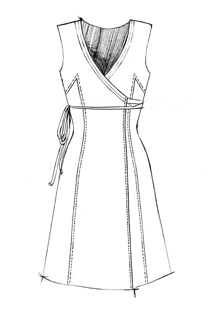 The school of making wrap dress pattern 1