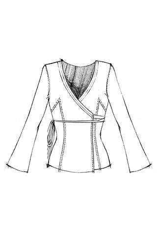 The school of making wrap dress pattern 3