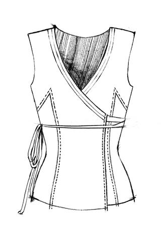 The school of making wrap dress pattern 5
