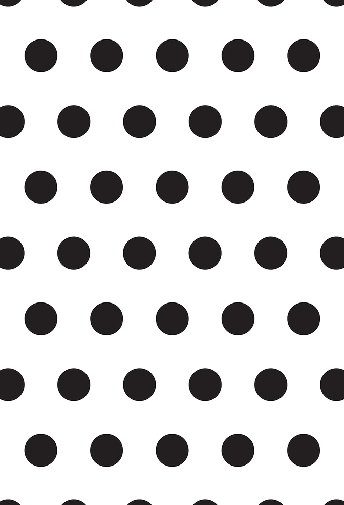 The school of making large polka dot stencil 1