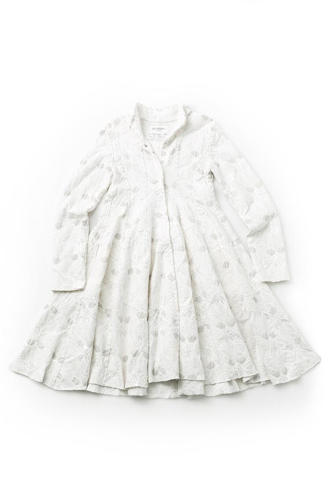 Alabama chanin embellished tiered coat 1