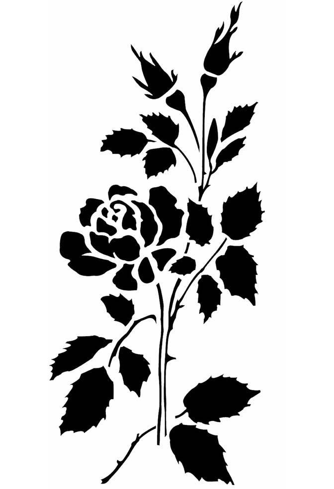 The school of making rose placement stencil 1