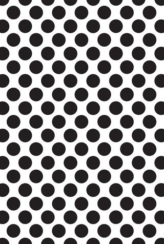 The school of making medium polka dot stencil 1