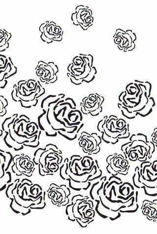 The school of making kristinas rose stencil 1