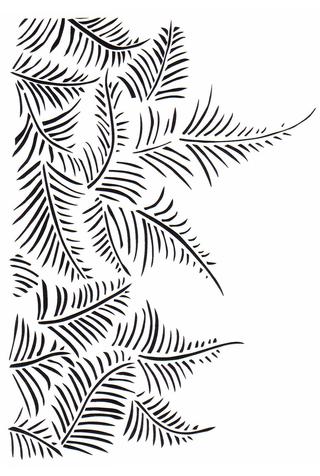 The school of making fern stencil 1