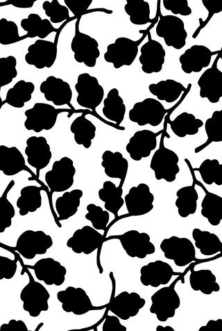 Medium New Leaves Stencil Artwork