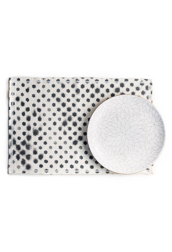Alabama chanin top stitch organic cotton placemat 1