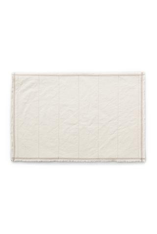 Alabama chanin top stitch organic cotton placemat 3