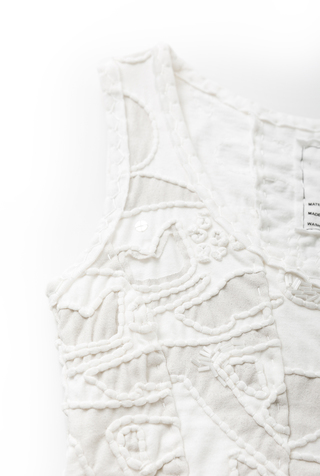 Alabama chanin organic cotton corset top 3