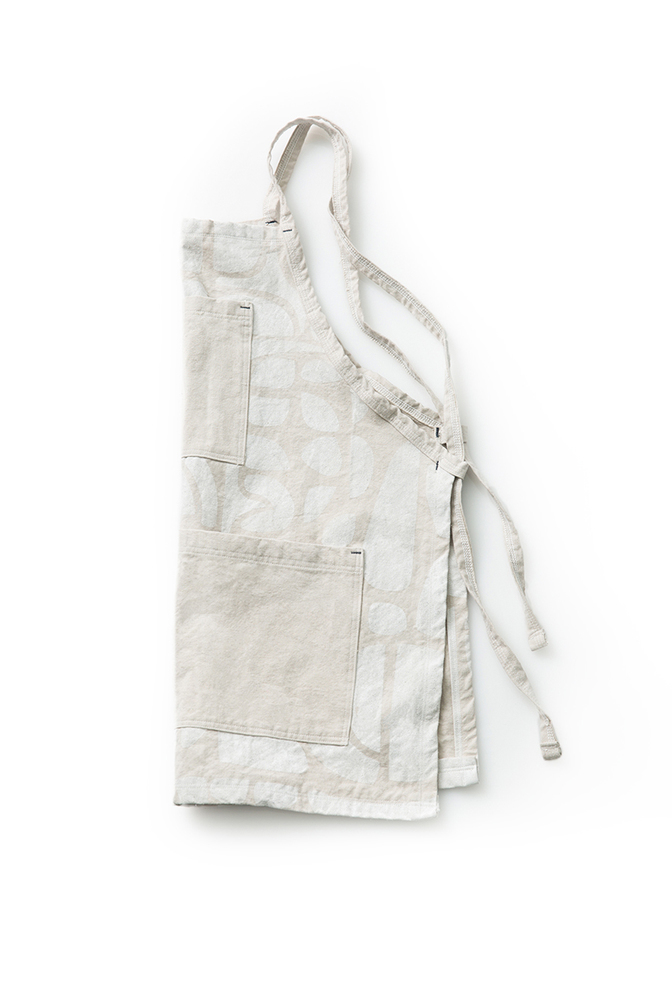 Alabama chanin patterned canvas tony apron 3