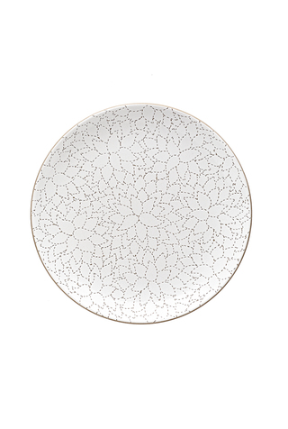 Camellia Etched Dinner Plate