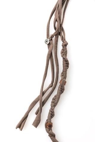 Alabama chanin woven cotton necklace 4