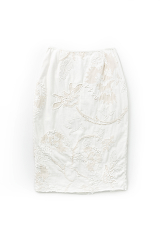 Alabama chanin hand embroidered pencil skirt 1
