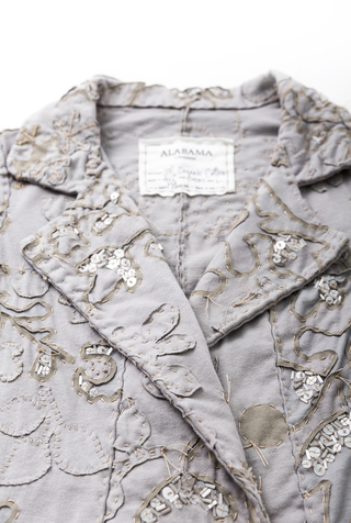 Alabama chanin floral double breasted cardigan 2