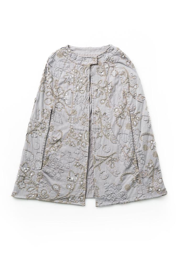 Alabama chanin embellished cape 1