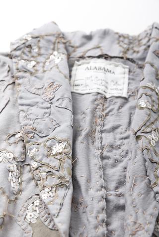 Alabama chanin hand sewn shawl 2