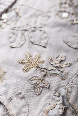 Alabama chanin hand sewn shawl 4