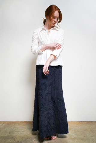 Alabama chanin beaded long skirt 5