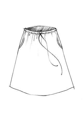 The school of making relaxed drawstring pant skirt sewing pattern 4