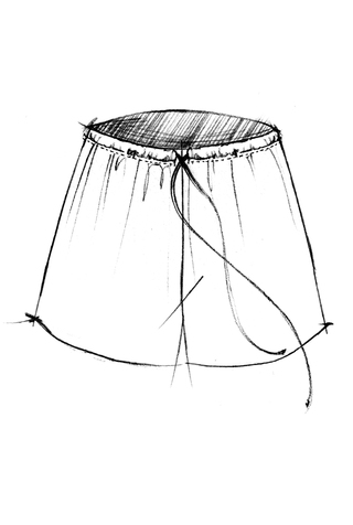The school of making relaxed drawstring pant skirt sewing pattern 5
