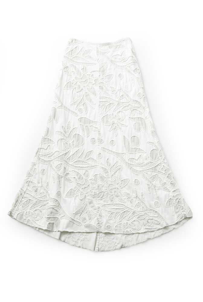 Alabama chanin embroidered floral long skirt 1
