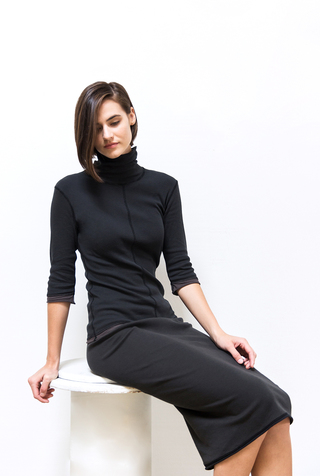 Alabama chanin core club turtleneck skirt