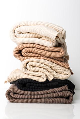 Alabama chanin leisure organic cotton waffle knit
