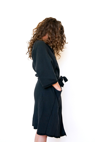 Alabama chanin organic cotton waffle bath robe 5