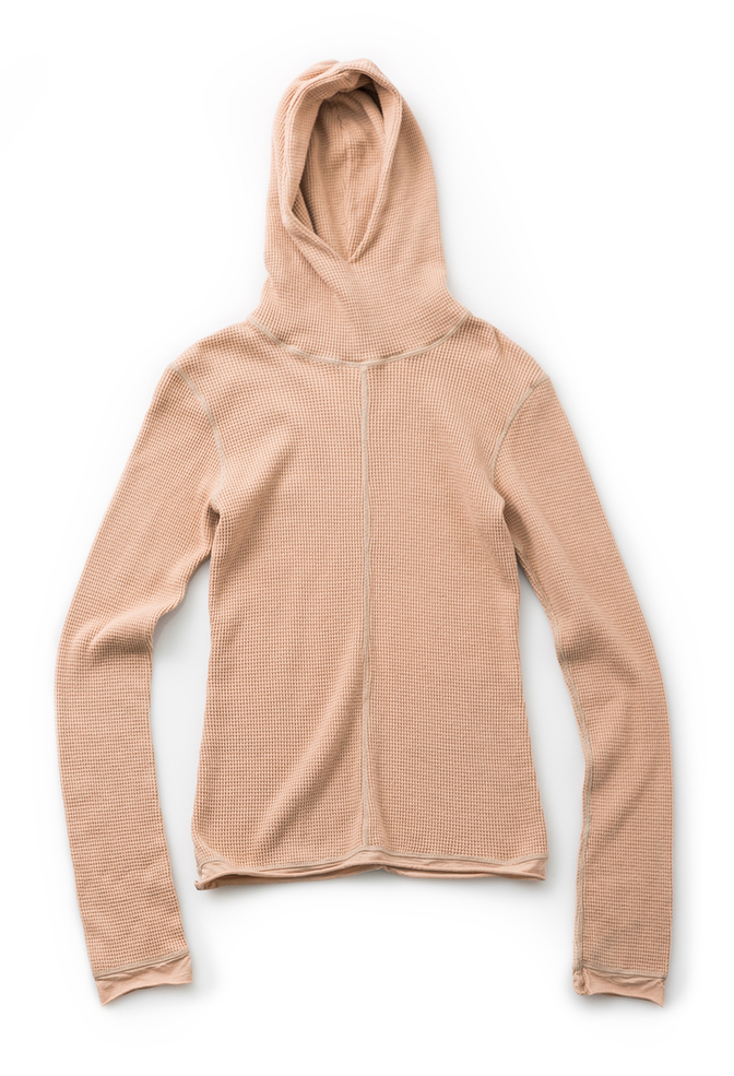 Alabama chanin hooded waffleknit thermal turtleneck 2