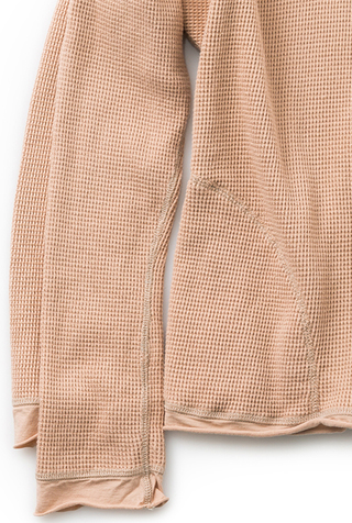 Alabama chanin hooded waffleknit thermal turtleneck 5