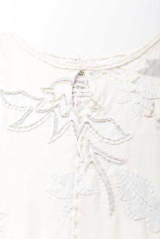Alabama chanin hand sewn floral aline tunic 2