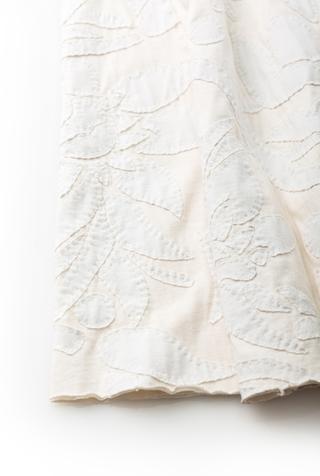 Alabama chanin hand sewn bridal gown 4