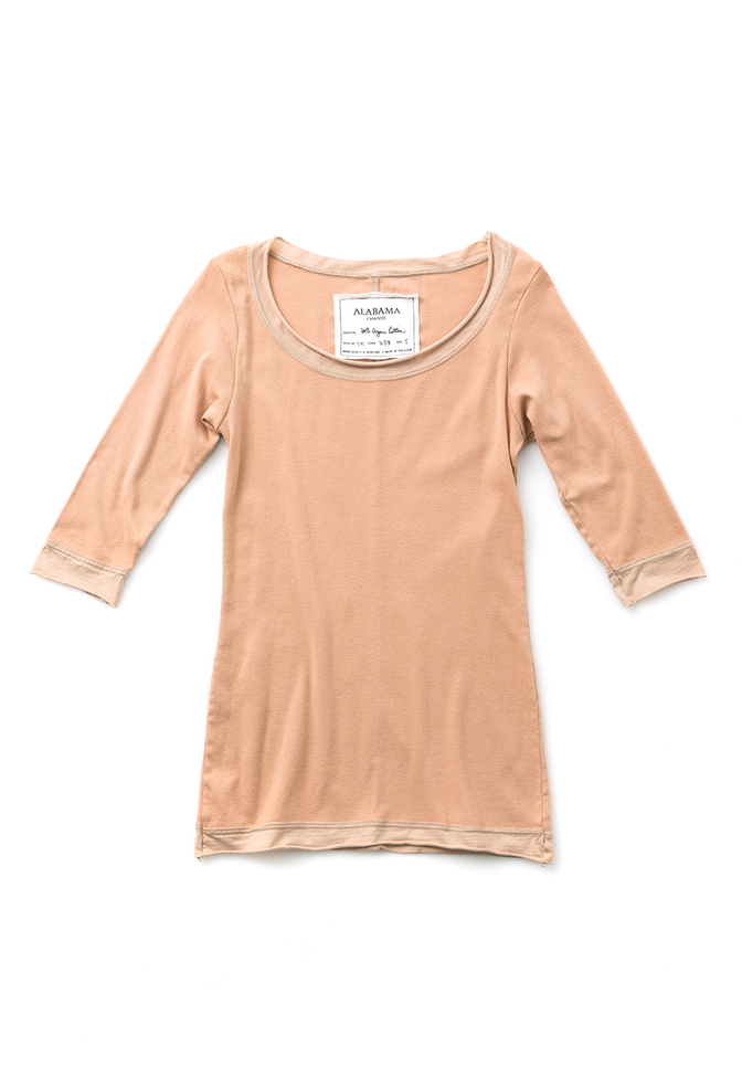 Alabama chanin scoop neck womens top 4