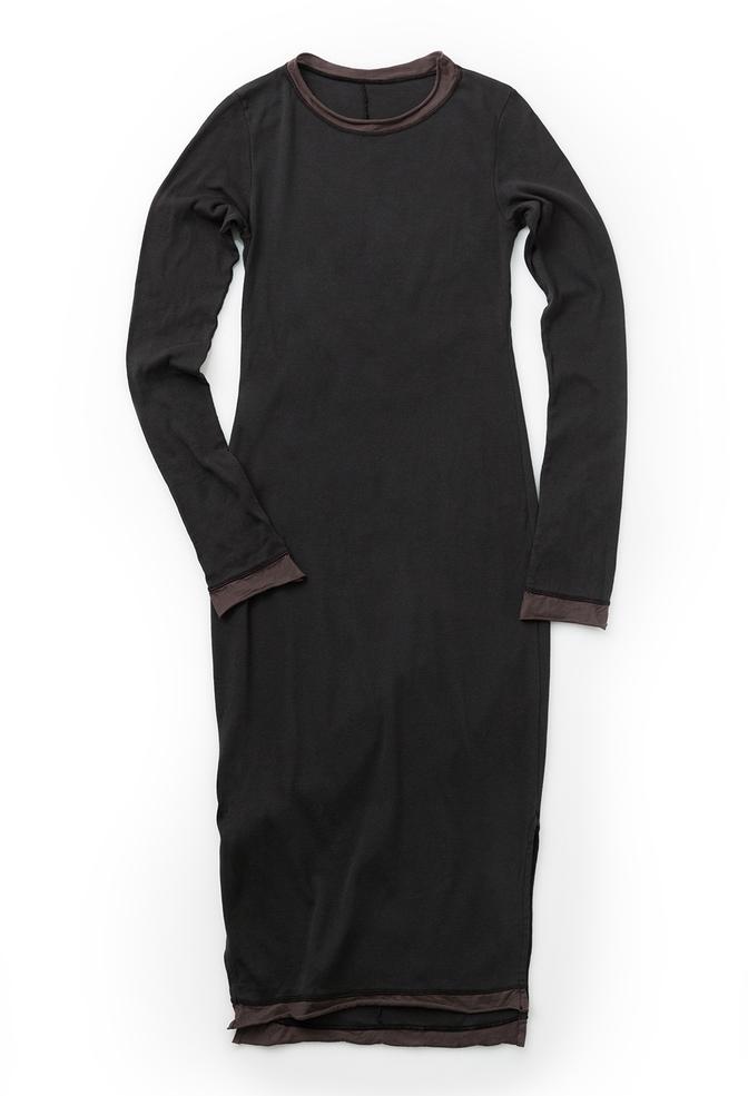 Alabama chanin long fitted rib dress 1
