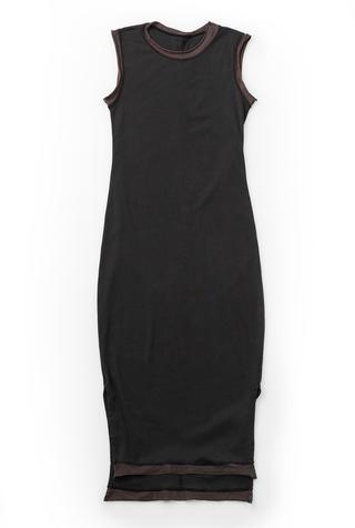 Alabama chanin long fitted rib dress 2