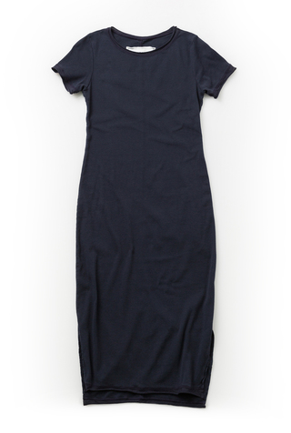 Alabama chanin long fitted rib dress 3