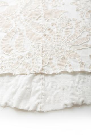 Alabama chanin embellished floral cotton skirt 2