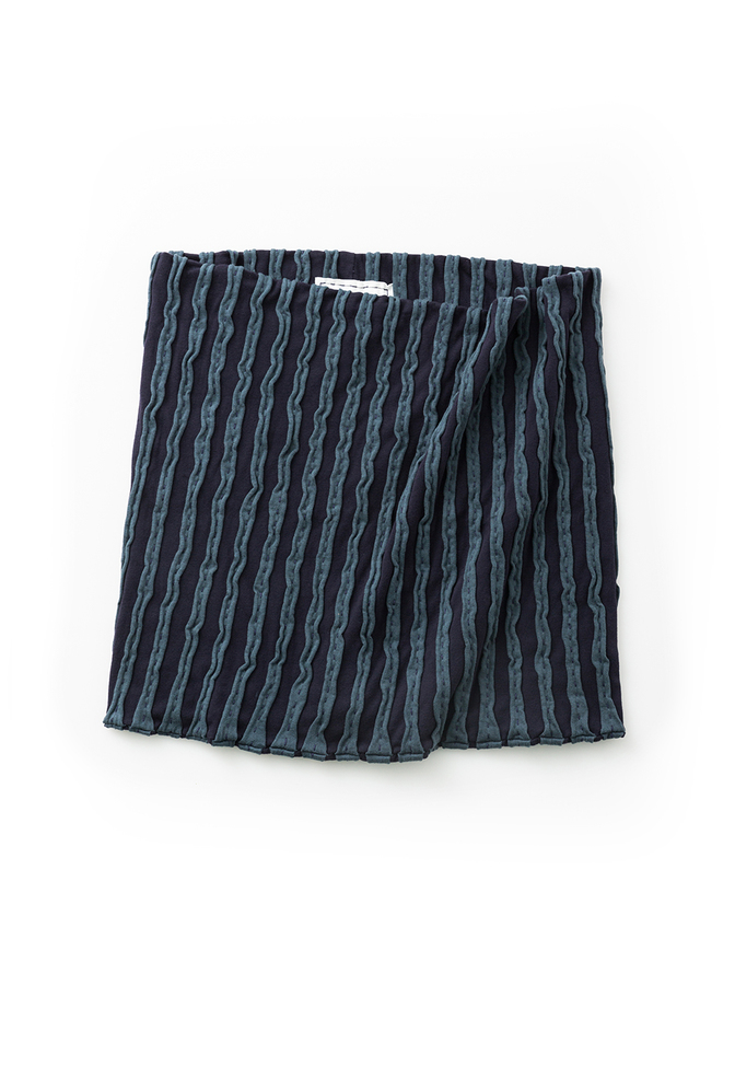 Alabama chanin embroidered striped organic cotton stole 1