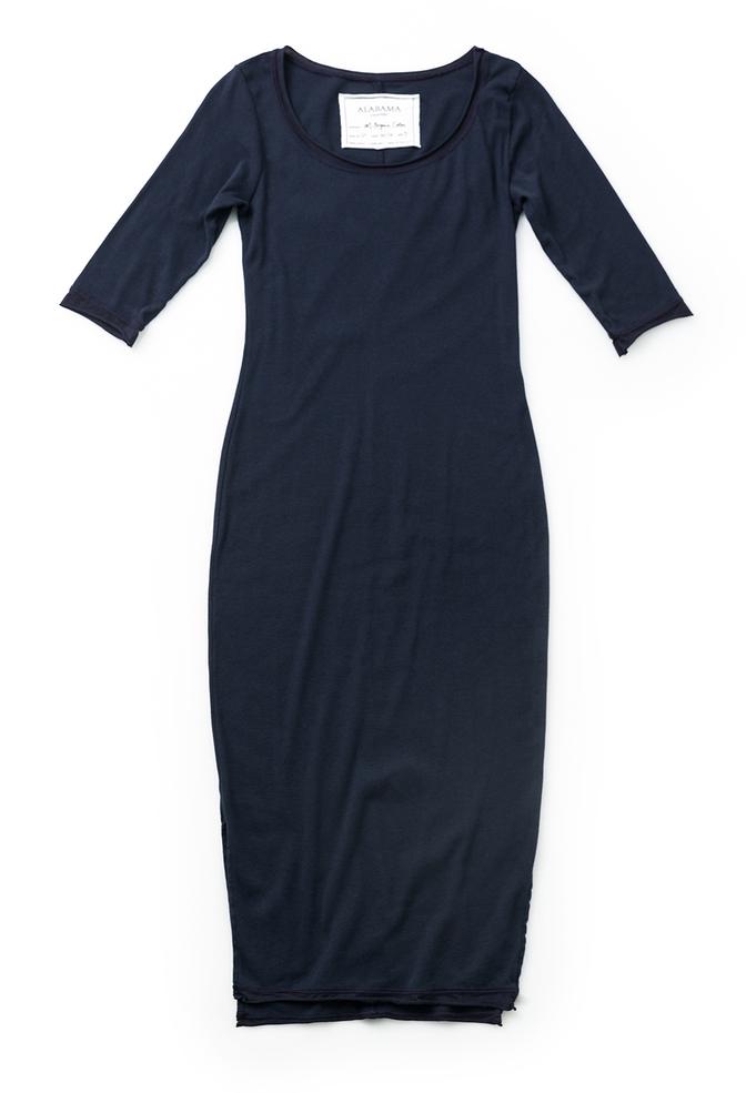 Alabama chanin scoopneck rib dress 1