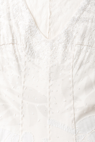 Alabama chanin hand sewn bridal gown 3