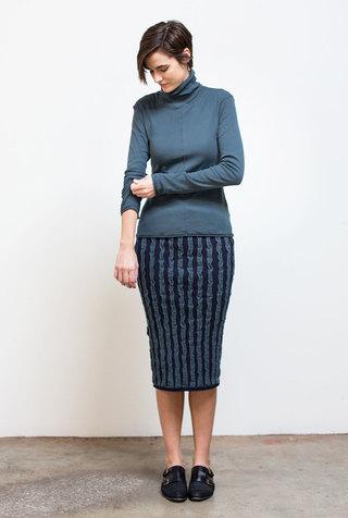 Alabama chanin striped womens pencil skirt 3