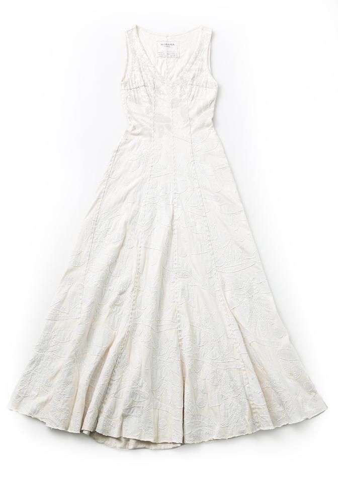 Alabama chanin hand sewn bridal gown 1