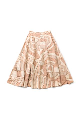 Alabama chanin handcrafted organic cotton womens skirt 3