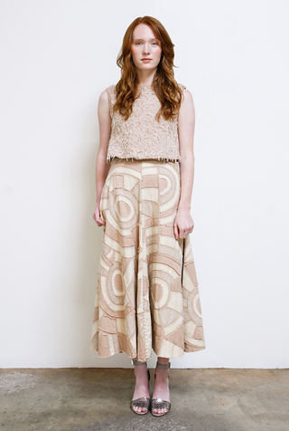 Alabama chanin handcrafted organic cotton womens skirt 2