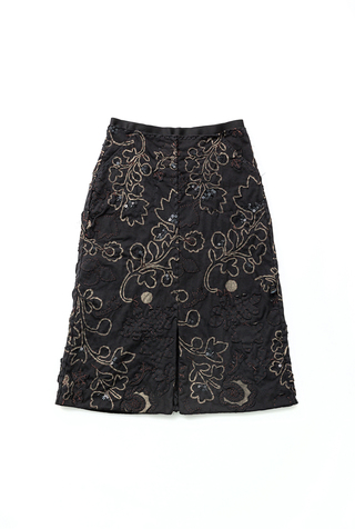 Alabama chanin organic cotton floral skirt 3