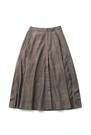 Alabama chanin chambray organic handsewn leighton full skirt 2