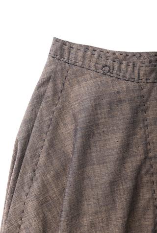 Alabama chanin chambray organic handsewn leighton full skirt 4