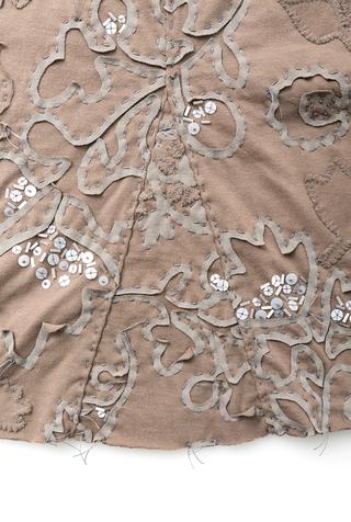 Alabama chanin hand embroidered beaded sequin elastic waist pencil skirt 3