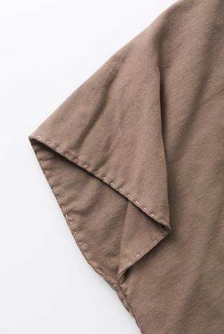 Alabama chanin handsewn cotton shawl 3