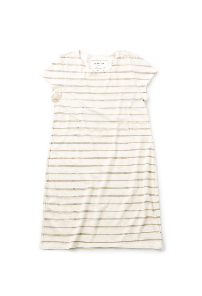 Alabama chanin stripe organic cotton casual dress 2